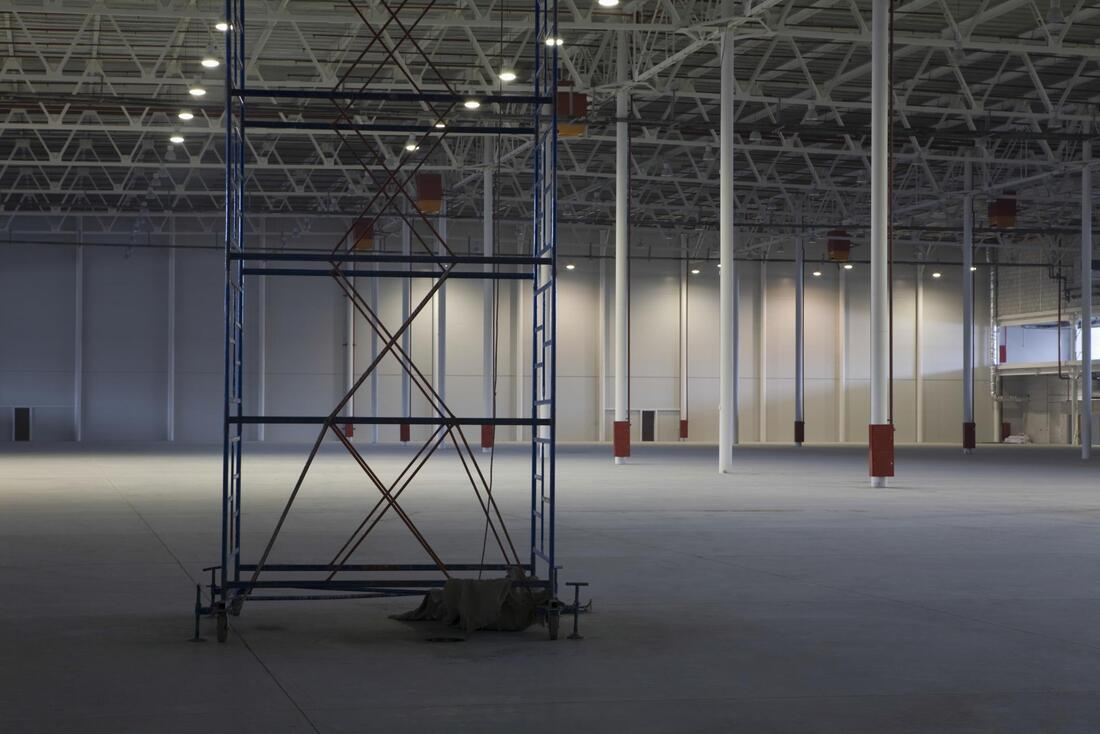 a big and empty warehouse